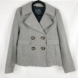 Banana Republic Short Gray Peacoat